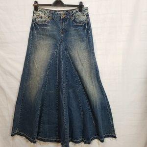 american rag cie juniors 7 denim maxi skirt